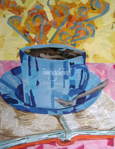 Intellectual Coffee Cup Collage by Megan Coyle