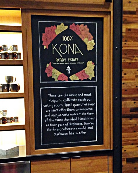 Starbucks Reserve Kona Parry Estate Coffee Featured at Downtown Disney Starbucks