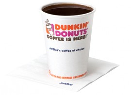 Airline coffee - Dunkin' Donuts Coffee on JetBlue Airways