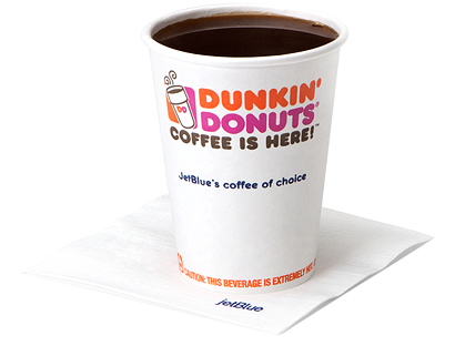 Dunkin' Donuts Coffee served on JetBlue Airways