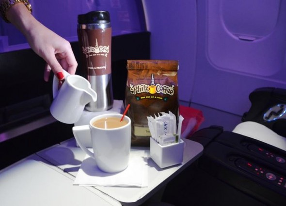 Airline coffee - Philz Coffee on Virgin America
