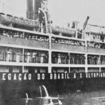 S.S. Itaquice transports Olympic athletes and coffee cargo to Los Angeles
