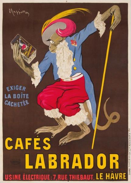 Cafés Labrador poster by Leonetto Cappiello