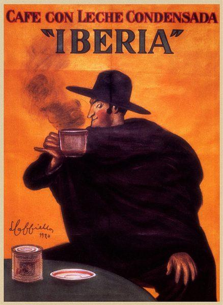 Iberia Cafe con Leche poster by Leonetto Cappiello