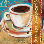 Costa Rica coffee art print