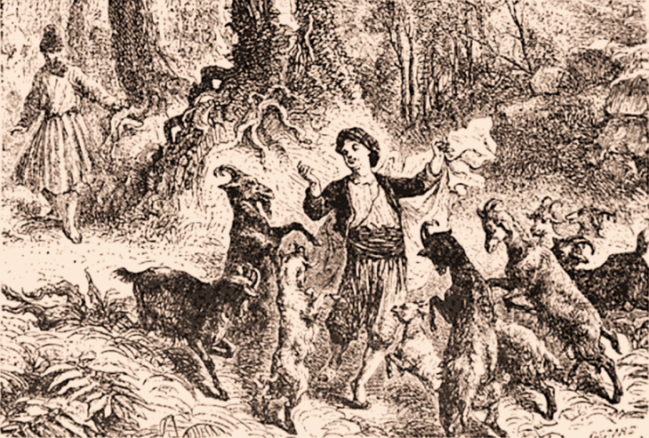 The origin of coffee - Kaldi and the dancing goats