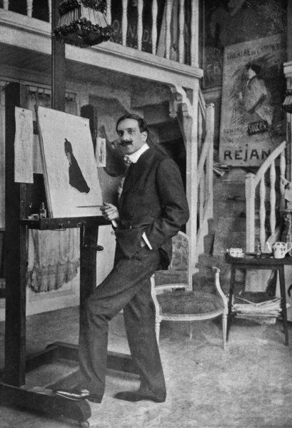 Leonetto Cappiello in his studio