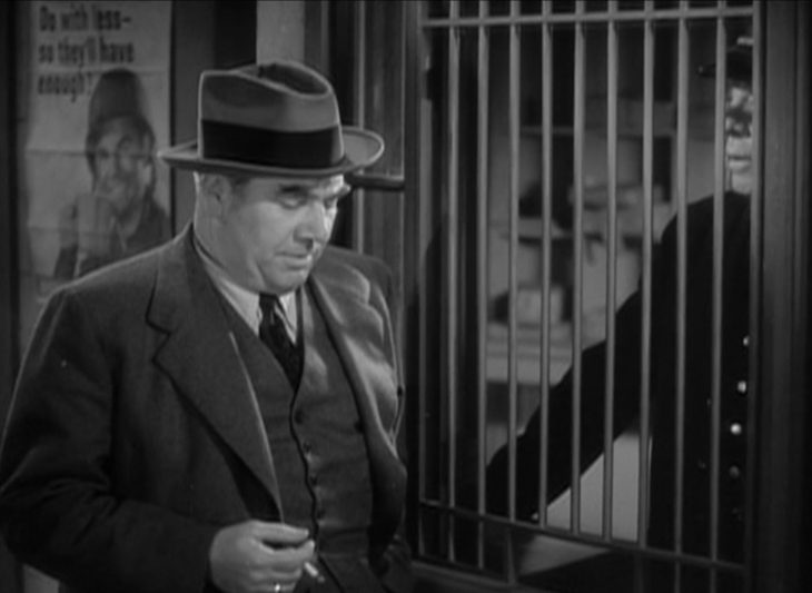 Rationing poster in scene from 1944 MGM movie The Thin Man Goes Home